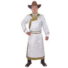 Ethnic clothing wedding party robe for men long mongolia gown Chinese style national festival stage wear male fancy costume chinese minority clothing apparel mongolia cashmere clothes dance costume men cosplay costume mongolia gown robe