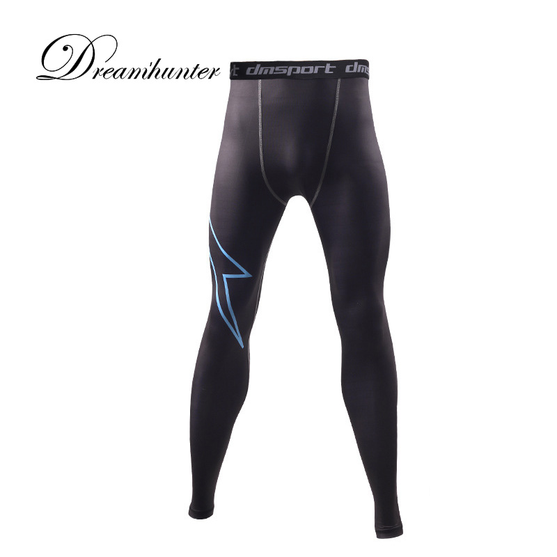 New Printed Mens Compression Pants Flexible Quick Dry Trousers Bodybuilding Fitness Clothing Men Sweat Leggings