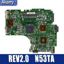Материнская плата для ноутбука Amazoon N53TA для ASUS N53TA N53TK N53T N53, оригинальная материнская плата