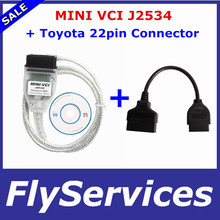 For Toyota Mini VCI V12.20.024 With FTDI FT232RL Chip Scanner For Toyota Tis Techstream + For Toyota 22pin OBD2 Diagnostic Tool