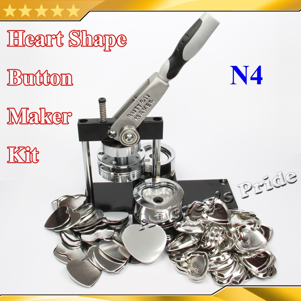 Triangle 58x63mm 100sets metal Pin Badge Button Parts  for Pro MakerMachine
