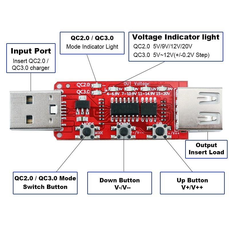 Le testeur Qualcomm QC2.0 / qc3.0 détecte automatiquement la carte - Instruments de mesure - Photo 2