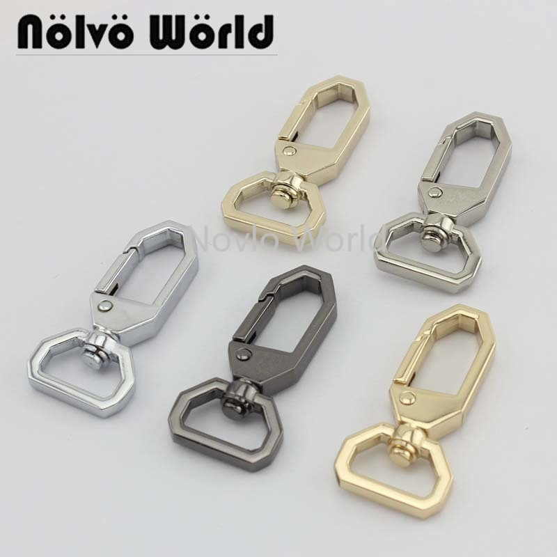6 Pieces Test, 48*16.2mm Small Quantity Metal Bags Strap Buckles Lobster Clasp Collar Carabiner Snap Hook Accessories