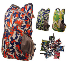 Outdoor Skin Bag  Travel Mountaineering Bag Folding Super Light 133g Backpack  City jogging Walking Backpack Camo color A4431