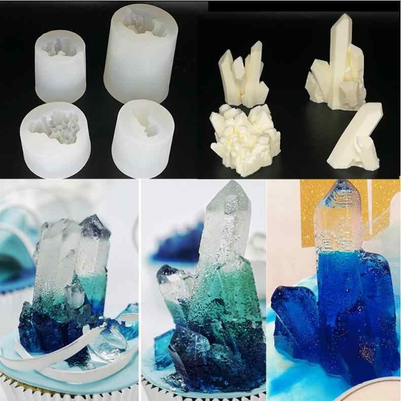 Molde de silicone secado flor resina decorativa artesanato diy cristal scicle corte shpe tipo resina epóxi moldes para jóias