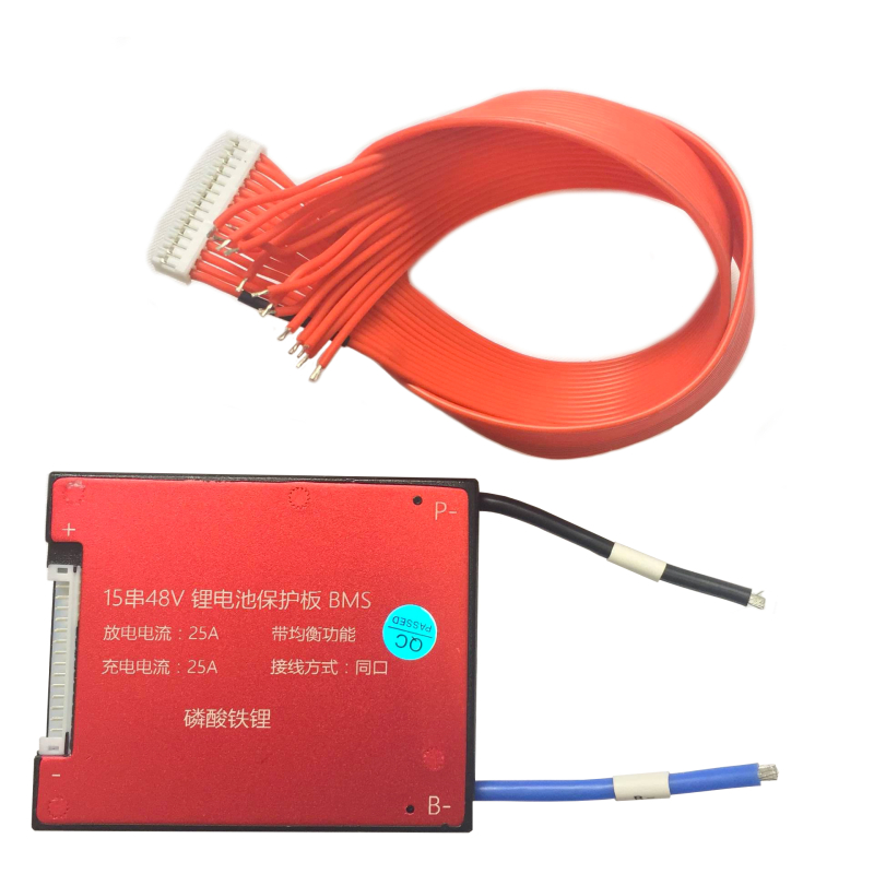 15S 48V 25A 35A 45A 60A BMS PCB PCM for LiFePO4 Battery with Balance Function
