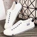 Nuevo Transpirable Mujer Zapatos de Plataforma 2016 Zapatos de Lona Blanca de Alta Calidad de Las Mujeres Entrenadores Casual Gruesa Suela de Zapatillas Mujer
