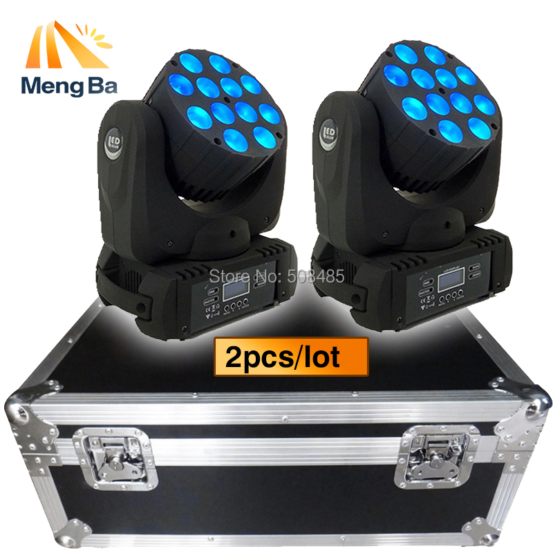 Flight Case With 2pcs 12x12W RGBW 4in1 LED Moving Head Beam LED DJ disco wedding christmas decorations for home stage light volta flight case for 2 pcs of la 208 top