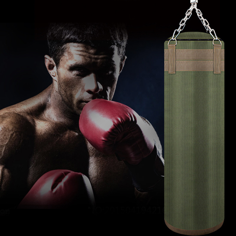 Olive Green Punch Bag 80cm Boxing Sandbags Punching Set for Fitness Training