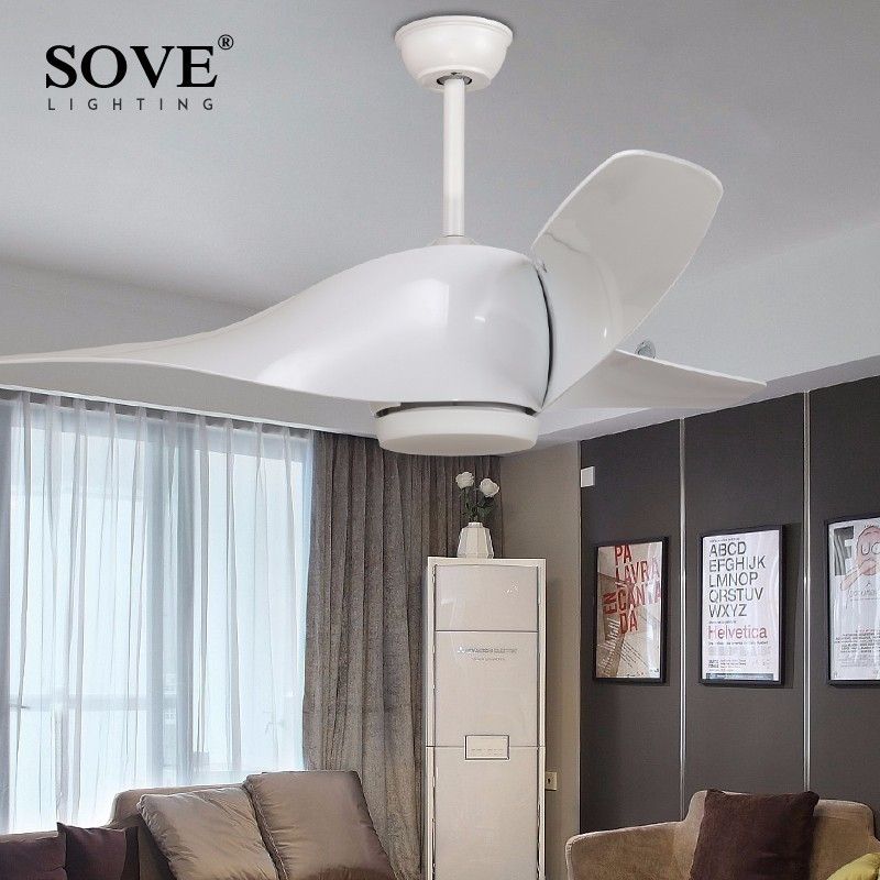 LED Modern White 95-265v 30w power DC Ceiling Fans With Lights Remote Control Bedroom Home Fan Lamp ventilador de teto prestigio noosion modern led ceiling lamp for bedroom room black and white color with crystal plafon techo iluminacion lustre de plafond
