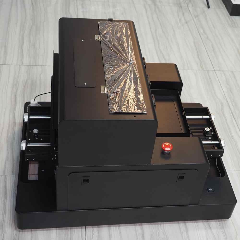 A3 حجم التلقائي مسطحة UV طابعة غطاء الهاتف طابعة مع شحن الحبر و زجاجة حامل ل زجاجة الطباعة آلة طباعة