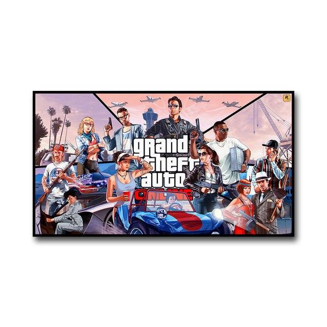 Плакат гобелен Grand Theft Auto