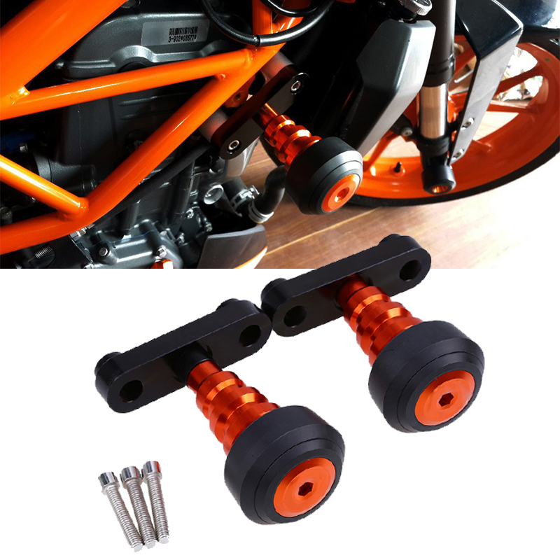 CNC Aluminum Motorcycle Frame Slider Anti Crash Protector Motocross Engine Protection For KTM DUKE 125 200 390 2013 2014 2015 motorcycle rear brake master cylinder reservoir cove for ktm duke 125 200 390 rc200 rc390 2012 2013 2014