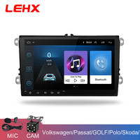 LEHX 9 inch Car Android 8.1 Car radio GPS Auto radio 2 Din USB for VW Skoda Octavia golf 5 6 touran passat B6 jetta polo tiguan