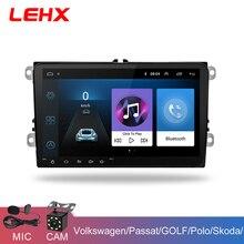 LEHX 9 дюймов Автомобильный Android 8,1 автомобильный Радио gps авто радио 2 Din USB для VW Skoda Octavia Golf 5 6 touran passat B6 jetta Polo Tiguan
