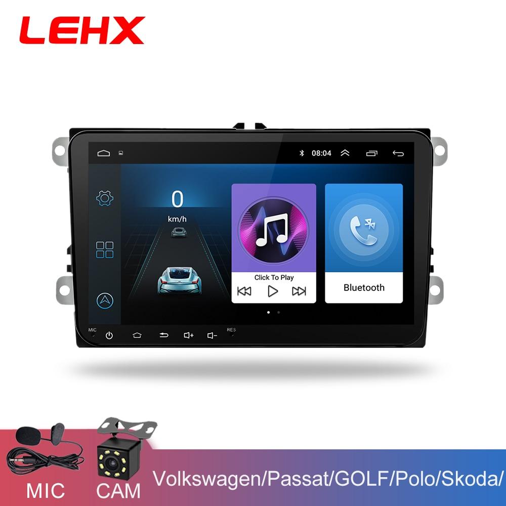LEHX 9 pouces voiture Android 8.1 autoradio GPS Auto radio 2 Din USB pour VW Skoda Octavia golf 5 6 touran passat B6 jetta polo tiguan