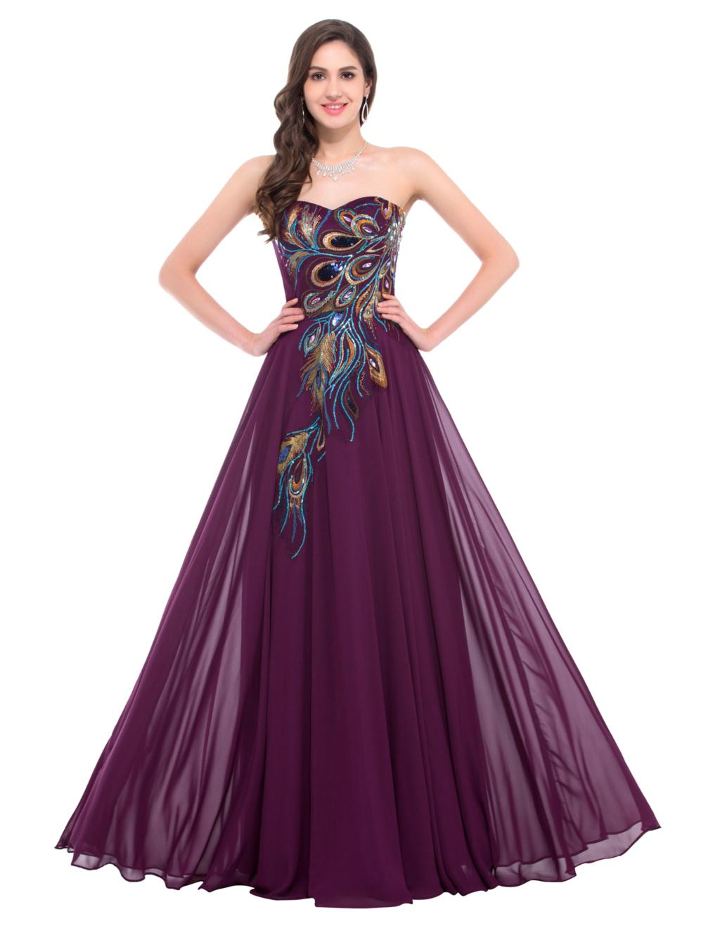 Purple Peacock Dress