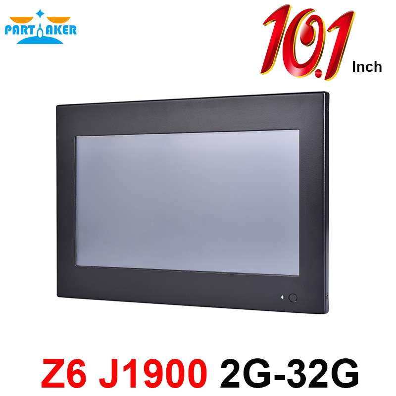 Partaker Z6 10.1 Inch Touch Screen PC With Bay Trail Celeron J1900 Quad Core OEM All In One PC 2G RAM 32G SSD