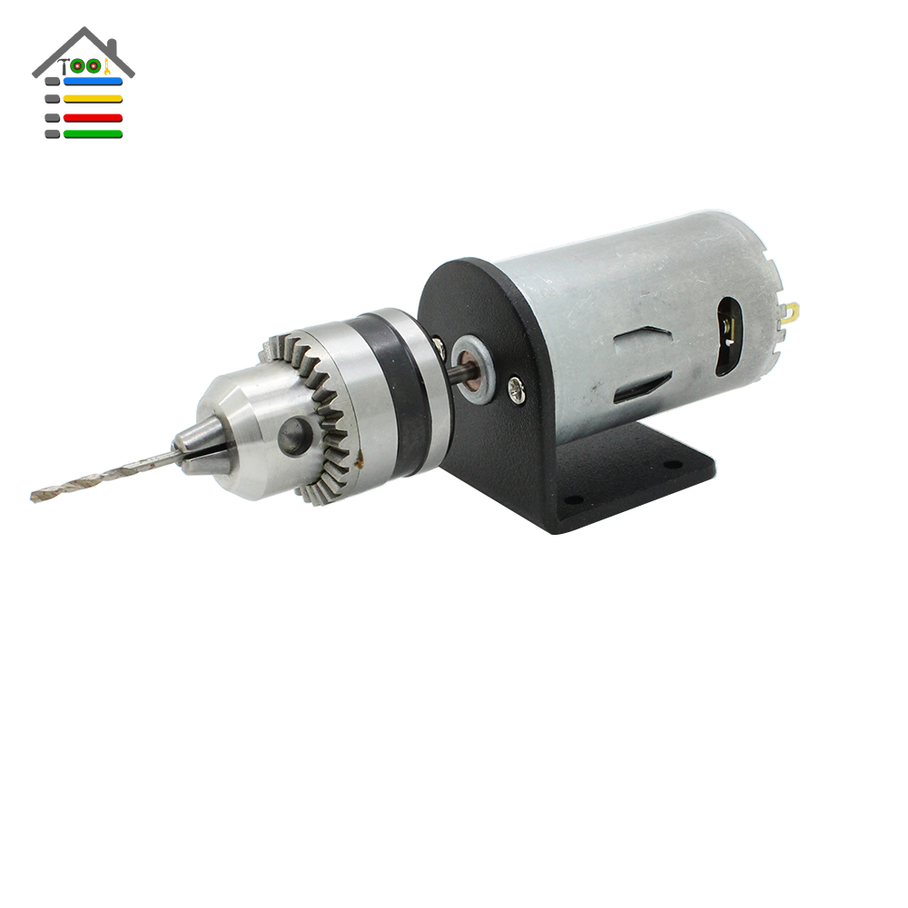Mini hand electric drill dc motor 12 24v 2a pcb wood for Small dc electric motor
