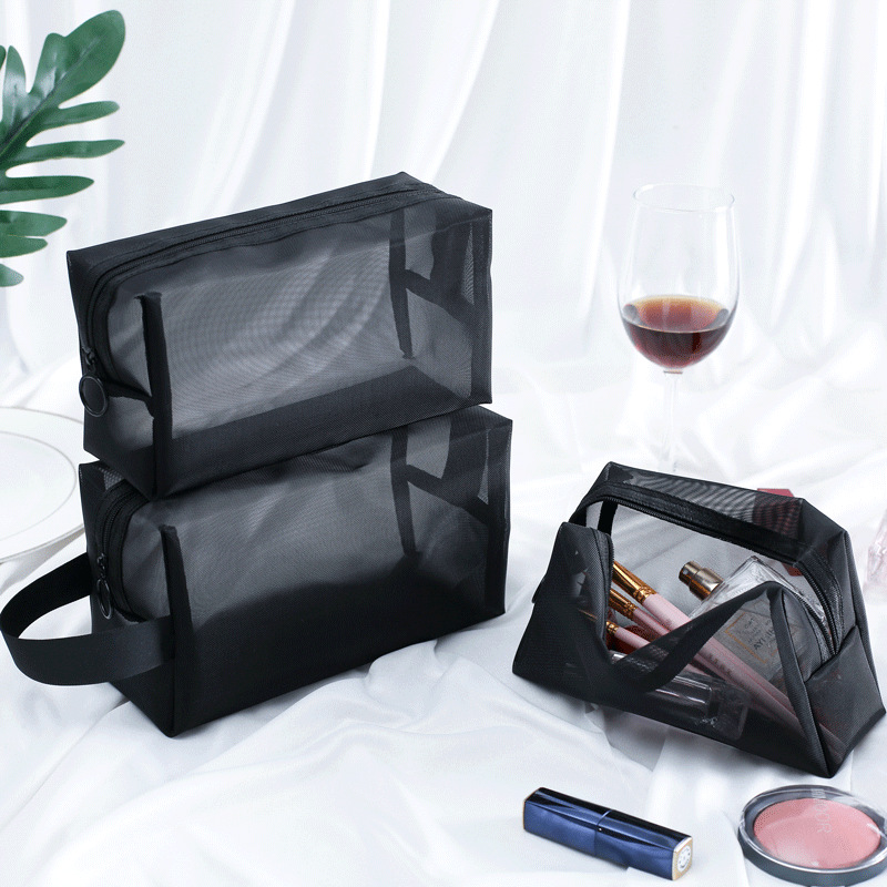 Makeup Case Storage-Pouch Cosmetic-Bag Toiletry Zipper Transparent Travel-Function Beauty