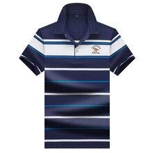 e4e7d71f406 Высокое качество Топы И Футболки мужские рубашки поло деловые мужские  бренды рубашек-поло рубашки 3D вышивка отложной воротник м.