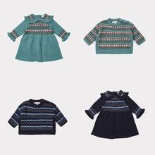 ZMHYAOKE preventa Maillot equipo De Francia 2018 ropa De invierno para bebés  Bobo Choses niños solapa Vestido De punto niñas ves. c55124d977b9a