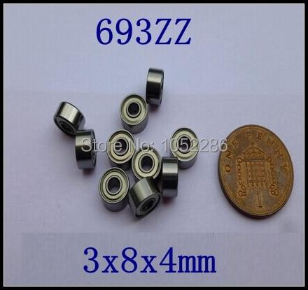 Free shipping  200pcs/lot  693ZZ  thin wall deep groove ball bearing  3*8*4 mm