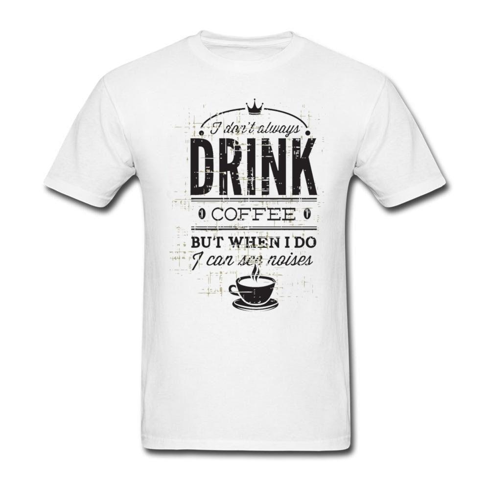 Shirt design words - Classic Collar Men Drink Design T Shirts Words Letter 2017 Fashion T Shirt Male Formal Uniform