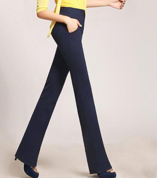 2018 מכנסי עבודה לנשים למתוח גבירותיי משרד מקרית חדשה מכנסיים בתוספת מכנסיים עיפרון גבוה מותן הכותנה שחור לבן אדום גודל