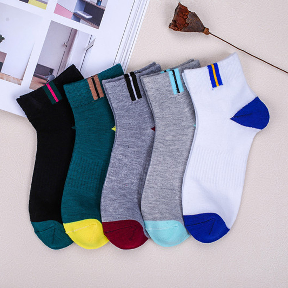 Men Fashion Casual Comfort Warm Socks Winter Socks Men Cotton Splice Sock Good Quality Casual Mesh Breathable Sock For Men