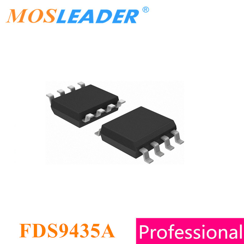 Mosleader FDS9435A SOP8 500PCS FDS9435 Single P-Channel 20V Made in China 30V Original High quality