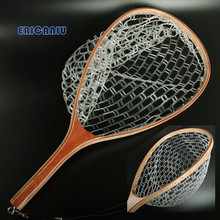Fly Fishing Landing Net Wooden Handle Nylon Fishing Landing Net Fishing Net 609