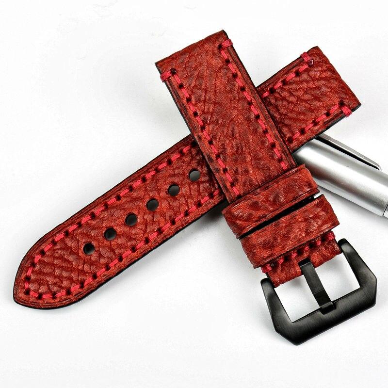 MAIKES Fashoin røde armbånd 20 22 24 26mm armbånd italiensk ko - Tilbehør til ure - Foto 3