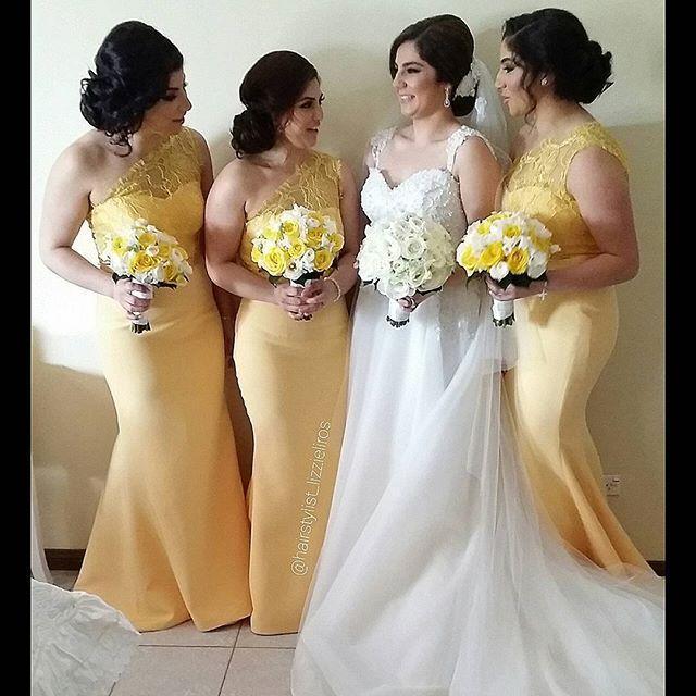 Popular Yellow Mermaid Bridesmaid Dress-Buy Cheap Yellow Mermaid ...