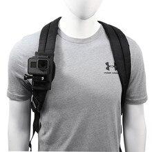 Ombro mochila alça suporte suporte suporte de montagem para gopro hero 8 7 6 5 4 sjcam eken yi dji osmo ação acessórios da câmera conjunto