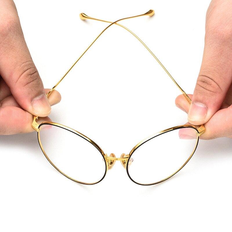Optische Titan 100 Polarisierte Rahmen Ultraleicht Glas Brillen Myopie Neue Männer Mit 2019 Objektiv Runde Auge IHIqCwB