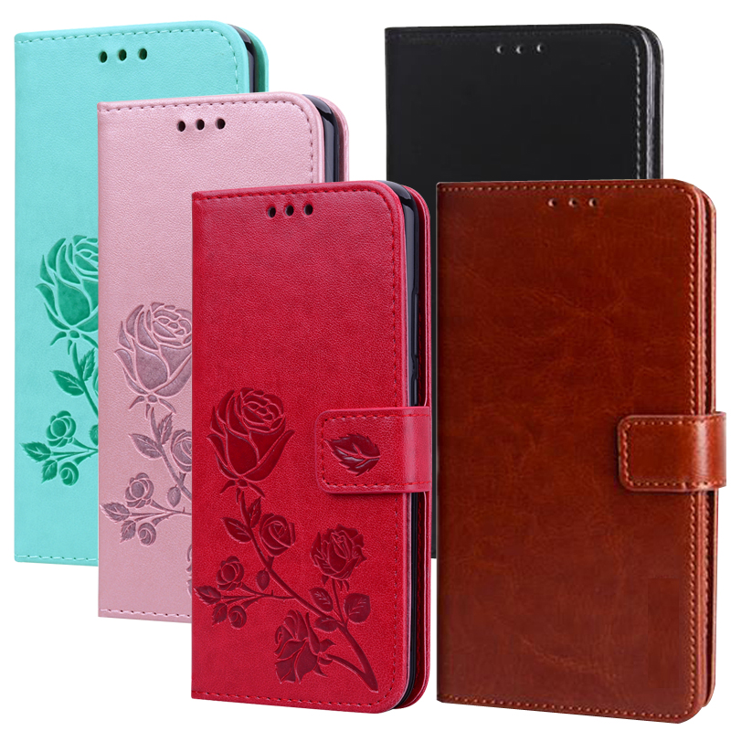 Rose Flower PU Leather Flip Wallet <font><b>Case</b></font> For <font><b>Doogee</b></font> X10 X20 X70 X60L Galicia <font><b>X5</b></font> Max BL5000 BL7000 Y8 Y7 Plus Cover image