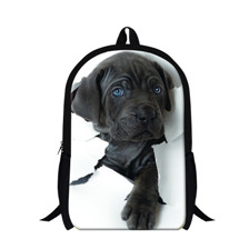 2015 New Women 3D Animal Backpacks Children Schoolbags Dog Printing Mens Travel Bag Schoolbag For Teenagers Students Backpack