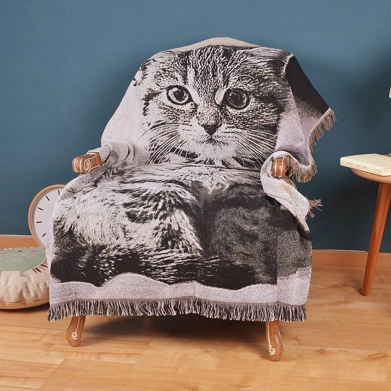100 Cotton Sofa Cover Sofa Towel Europe Geometric Style Plaid Sofa Chair Blanket Slip resistant Vintage