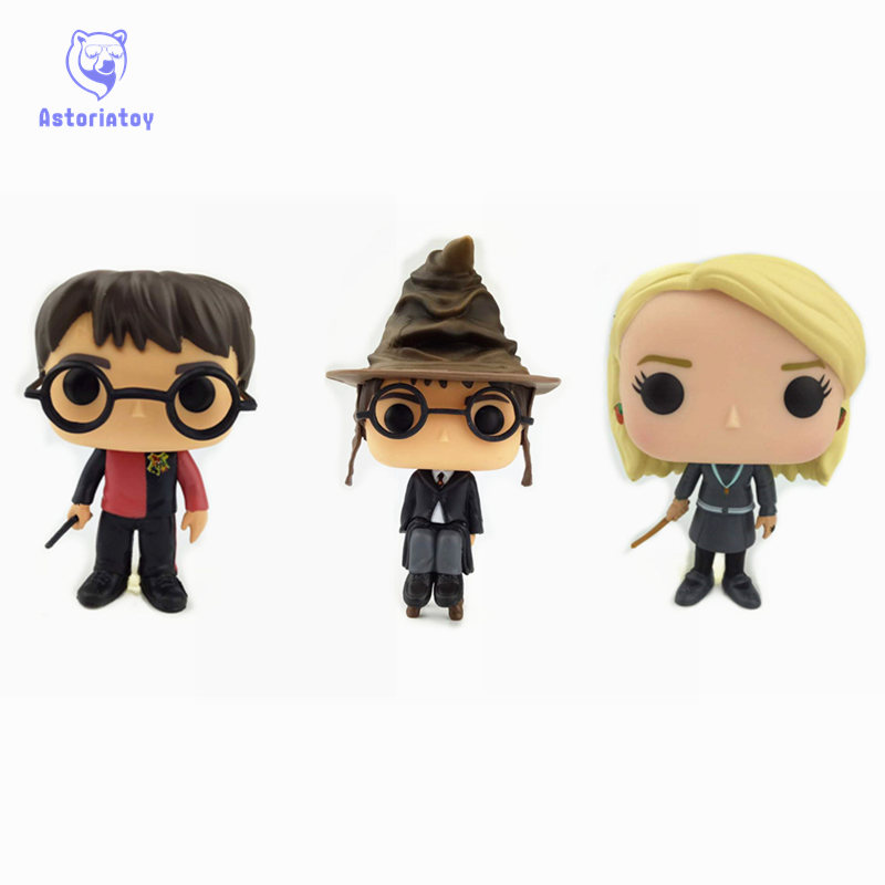 NEW 10cm Harry Potter LUNA LOVEGOOD action figure Bobble Head Q Edition new box for Car