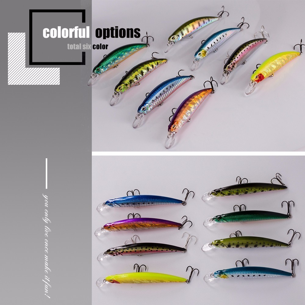 Image 4 - 2018 New Crankbait Wobblers Hard Bait 9.5cm/15g Fishing Lures Minnow For Bass Pike Perch Camping Fake Isca Artificial Jerkbait-in Fishing Lures from Sports & Entertainment