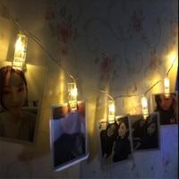 20 Luzes Da Corda Luzes De Natal Solar Powered LED Foto Clipes branco Quente para Pendurar Fotos Pinturas Pictures Cartão e Memorandos
