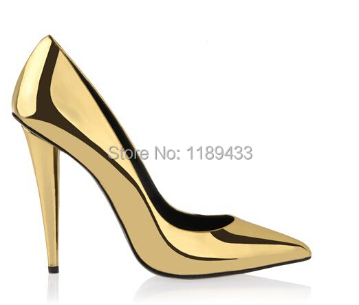 Hot sale Cone heeled pointy pumps fashion bright shiny golden leather high heel shoes daffodile pointed toe gold dress shoes amourplato women s fashion pointed toe high heel sandals crisscross strap pumps pointy dress shoes black purple size5 13