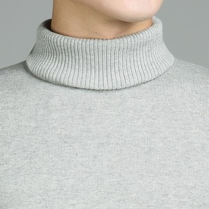 Image 4 - Varsanol Casual Turtleneck Sweater Men Pullovers Autumn Fashion Style Sweater Solid Slim Fit Knitted sweaters Full Sleeve Coats