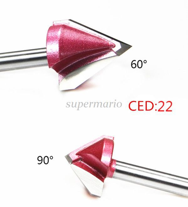 Hi Quality 3D Wood Making Router CNC Engraving V Groove Bit End Mill 32mm 90 Degree cnc engraving 3d bits router 120 degree 6mm x 32mm v groove acrylic wood chamfer