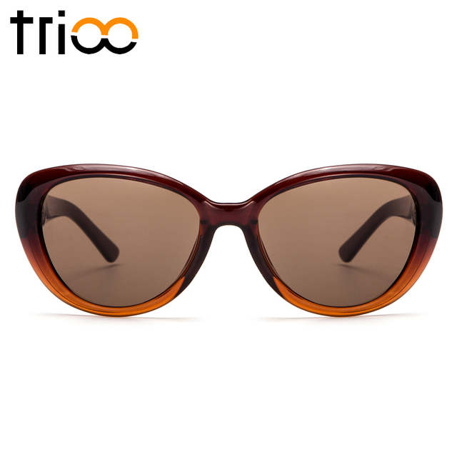 TRIOO Myopia Sunglasses Women Prescription Sun Glasses Cat Eye Frame Degree Diopter Lens UV400 Shades Driving Eyewear Spectacles