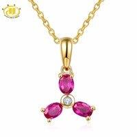 Hutang 9x13.5mm Wisiorek i Naszyjnik Naturalne Ruby Z Litego 10 K Yellow Gold Gemstone Biżuterii Dla Matki Prezent 2017 NOWY