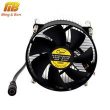 [MingBen] 1 компл. Высокое качество 95x95x66 мм радиатор с вентилятором алюминиевый теплоотвод экструдированный профиль для светодиодный чип шарик рассеивания тепла