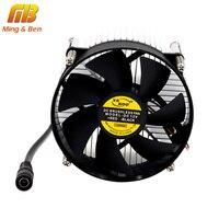 [MingBen] мм 1 компл.. Высокое качество 95x95x66 мм радиатор с вентилятором Алюминий радиатора прессованный профиль светодио дный для LED чип шарик ра...