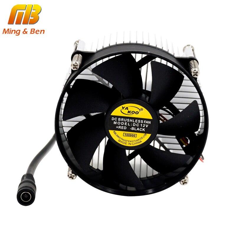 [MingBen] 1 ensemble de haute qualité 95x95x66mm radiateur avec ventilateur en aluminium dissipateur de chaleur extrudé profil pour puce LED Dissipation thermique de perle